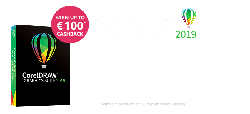 Corel DRAW Graphics Suite 2019 Cashback Campaign